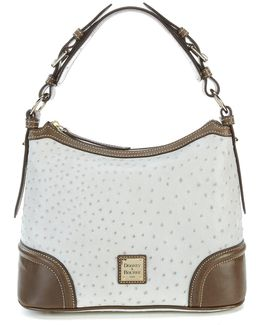 Dillards 75th Anniversary Ostrich-embossed Hobo Bag