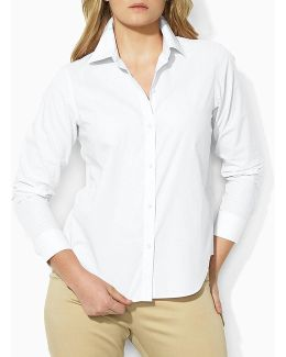 Plus Cotton Poplin Dress Shirt