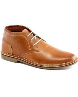 Hestonn Leather Desert Boots