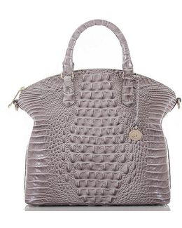 Melbourne Collection Large Duxbury Croco-embossed Dome Satchel