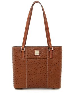 Small Lexington Ostrich-embossed Tote