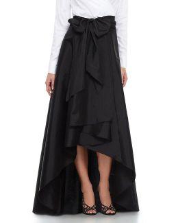 Hi-low Taffeta Skirt