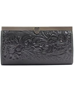 Tooled Floral Embossed Cauchy Wallet