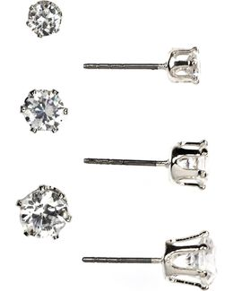 Trio Stud Earrings Set