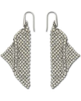 Fit Silver Shade Mesh Statement Earrings