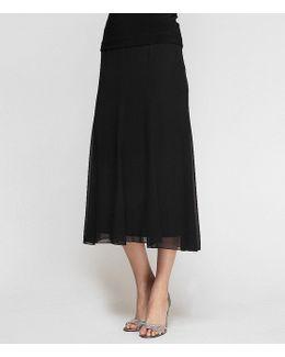 Plus Chiffon Panel Skirt