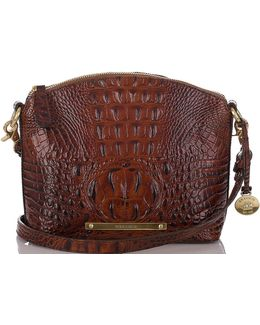Melbourne Collection Mini Duxbury Croco-embossed Cross-body Dome Bag