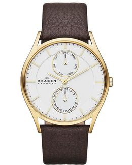 Multifunction Leather-strap Watch