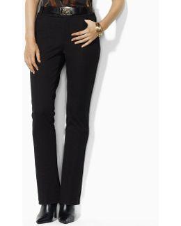 Petite Gabardine Straight-leg Pants