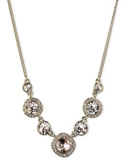 Silk Crystal Frontal Necklace