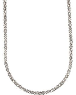 Long Pavé Crystal Necklace