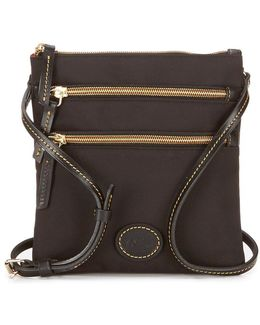 Nylon Triple-zip Cross-body Bag