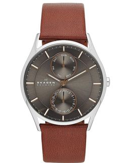 Men's 3-hand Multifunction Leather Watch