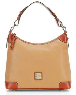 Pebble Leather Hobo Bag