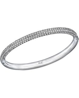 Pavé Stone Stainless Steel Mini Bangle Bracelet