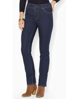 Lauren Jeans Co. Super Stretch Slimming Heritage Straight Jean