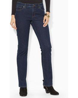 Lauren Jeans Co. Super Stretch Slimming Modern Curvy Indigo Rinse Jeans