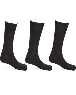 Microfiber Mid-calf Dress Socks 3-pack
