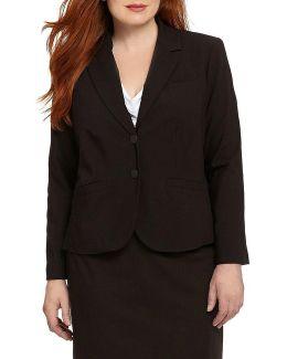 Plus 2-button Suit Jacket