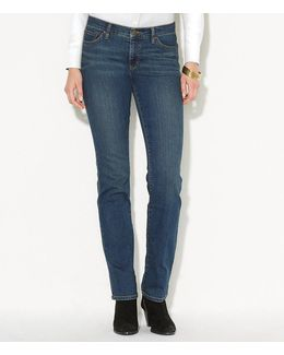 Petite Super Stretch Slimming Classic Straight Jeans