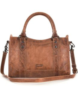 Melissa Washed Leather Satchel