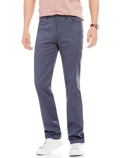Slim-fit Flat-front 5-pockets Stretch Pants