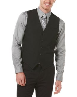 Big & Tall Solid 5-button Vest