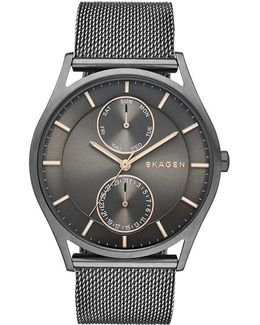 Holst Men ́s Grey Stainless Steel Mesh Bracelet Watch