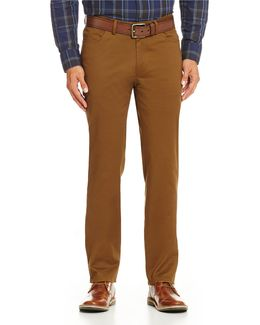 Slim-fit Flat-front Chino Pants