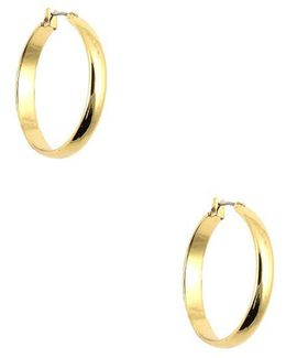 Wide Band Hoop Earrings