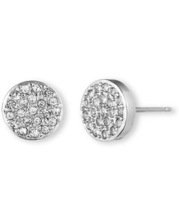 Pavé Button Earrings
