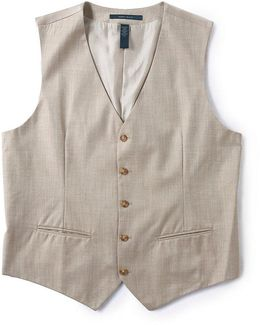 Big & Tall Herringbone Vest