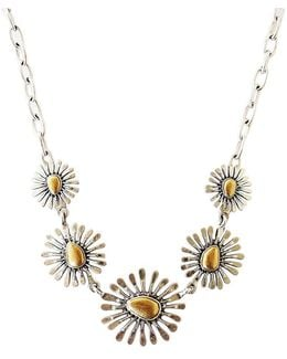 Two Tone Floral Collar Necklace
