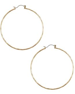 Big Hammered Hoop Earrings