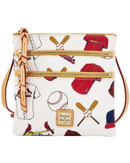 St Louis Cardinals Triple Zip Cross-body Bag