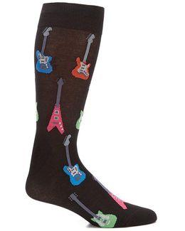 Electric Guitar Crew Socks