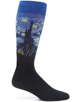 Starry Night Crew Socks