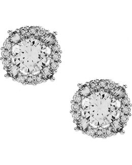 Elevated Cubic Zirconia Stud Earrings