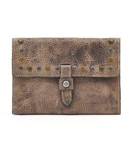 Studded Washed Colli Flap Wallet