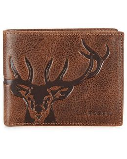 Jack Front-pocket With Id Dear Embossed Bifold Wallet