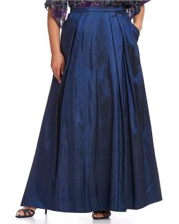Plus Long Taffeta Full Skirt