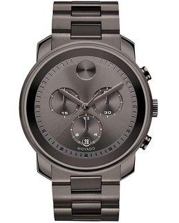 Gunmetal Stainless Steel Chronograph Watch