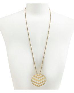 Chevron Flex Pendant Necklace