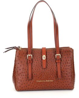 Miller Ostrich-embossed Shopper Tote