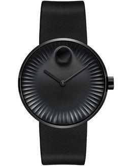 Edge Black Dial Rubber Strap Watch