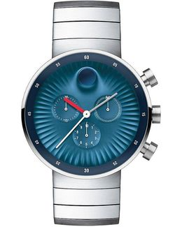 Edge Blue Dial Stainless Steel Chronograph Watch