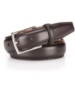 Full Dome Stitched Leather Belt