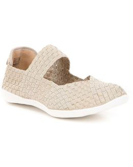 Cuddly Stetch Woven Slip-on Mary Janes
