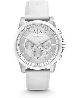 Ax Active Chronograph Silicone Strap Chronograph Watch