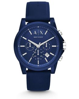 Ax Active Silicone Strap Chronograph Watch